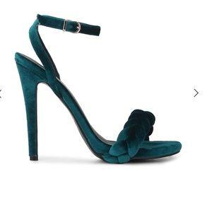 Doli Berry Shoes - Doli Berry velvet days teal braided heels
